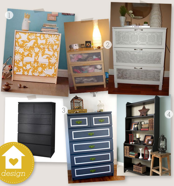 sarah hearts painted ikea furniture