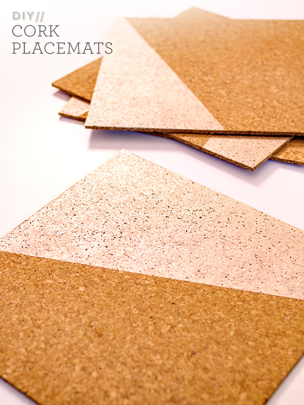 DIY Gold Placemat