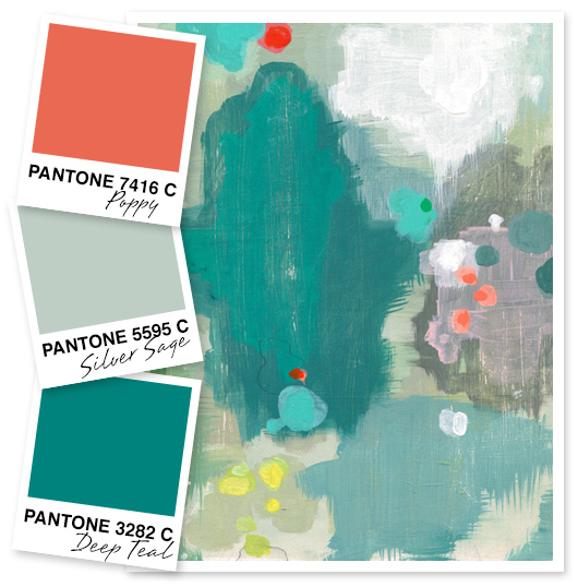 Sarah hearts poppy silver sage and deep teal color palette - Colors that go with silver ...