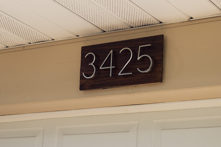 Sarah Hearts Diy Modern House Number Sign