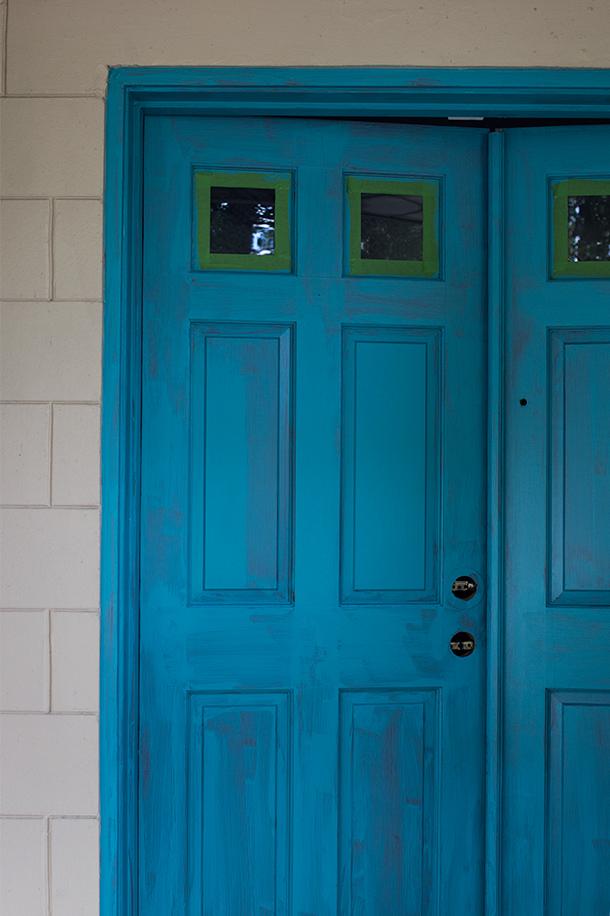 Sarah hearts teal painted front door - Painted front door images ...