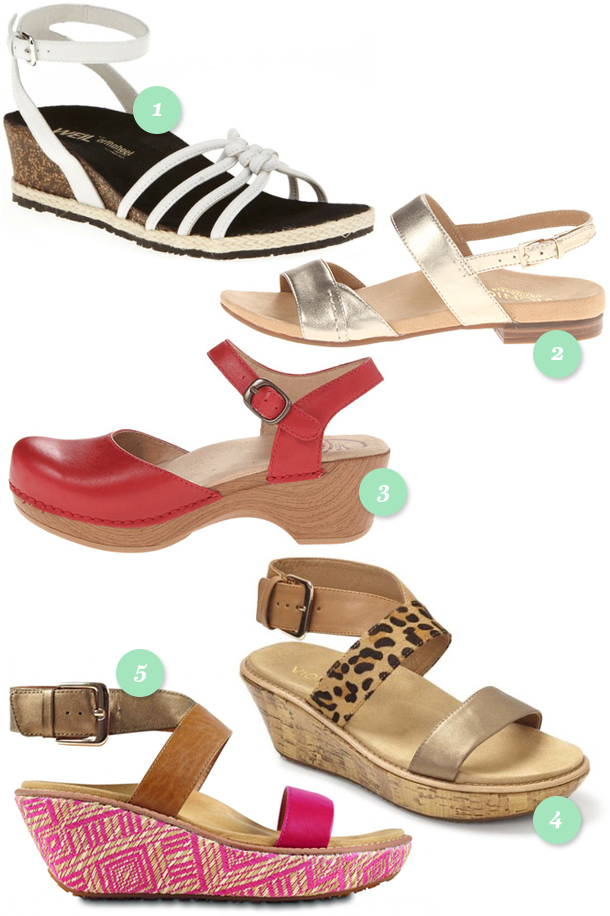 Stylish comfort sandals for spring for achy feet