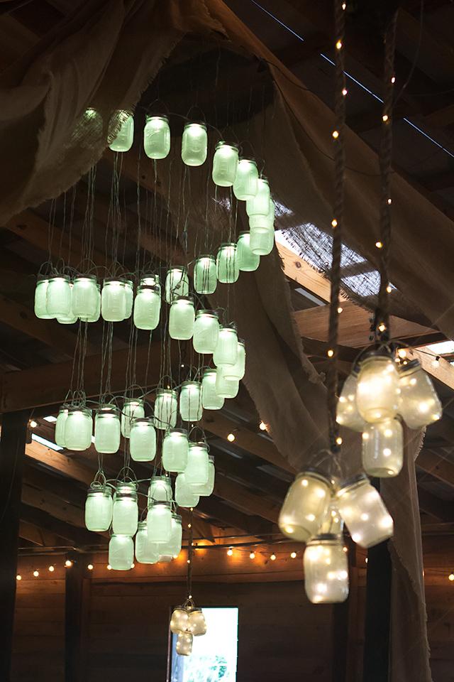 String Of Lights Mason Jars Vintage Wedding : Sarah Hearts - LED Mason Jar Lights