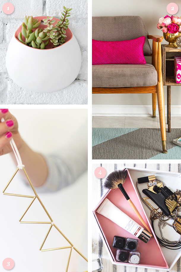 Add some simple glamour to your home with one of these DIY projects! Click through for links to each project and more.